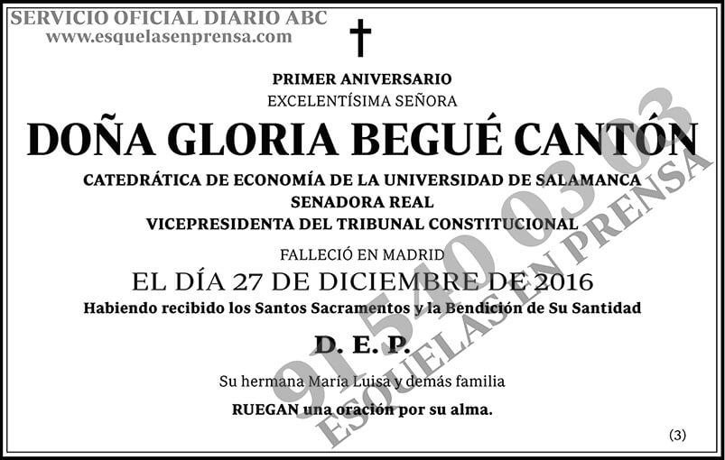 Gloria Begué Cantón